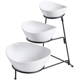 Picture of  3TIER OVAL BOWL SET W RACK