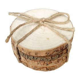 Picture of Wood Trunk Slice Coasters- Set of 4