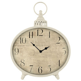 Picture of VE LG VNTG ROUND CLOCK IVORY