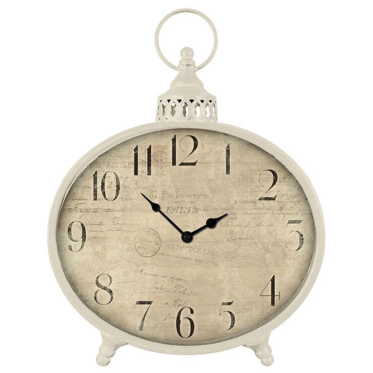 VE LG VNTG ROUND CLOCK IVORY