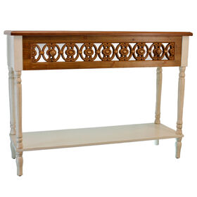 Picture of Mirrored Front Single Shelf Console Table, Antique White