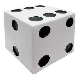 Picture of WHITE PAINTED DICE