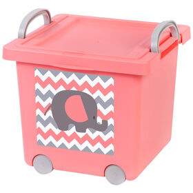 Picture of Basket with Wheels - Gray Elephant