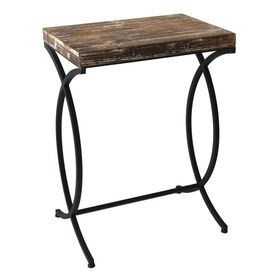 Picture of Nested Rustic Rood and Metal Table 26 in.