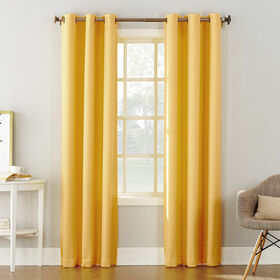 Picture of Yellow Tegan Window Curtain Panel 84-in