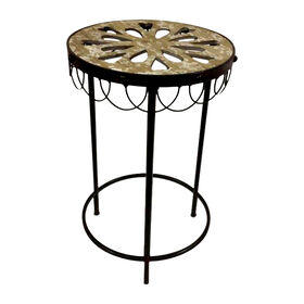 Picture of Nested Round Wood Cutout Table - Small