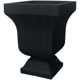 Picture of 22.4IN BLACK SQ FLUTED URN