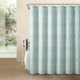 Picture of Aaron Textured Shower Curtain-Blue