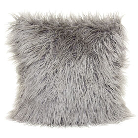 Picture of 18in Mongolian Grey Fur Pillow