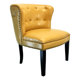 Picture of Yellow Bonded London Studded Chair