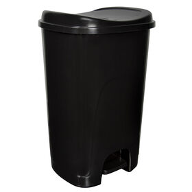 Picture of Hefty 13 Gallon Step-On Trash Can - Black