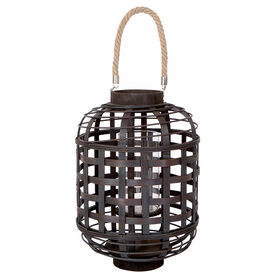Picture of Brown Bamboo Lantern- 16 in.