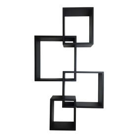Picture of Black Interlocking Cubes- Set of 4