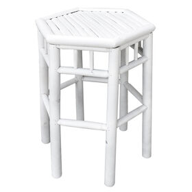 Picture of White Nested Bamboo Table - Large