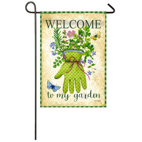 Picture of 2 SIDED HERB GARDEN SUEDE FLAG