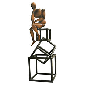 Picture of Geometric Sitting Man Figurine