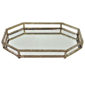 Picture of Silver Mirrored Tray- 15x9x2 in.
