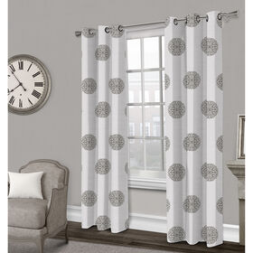 Picture of Sedgewick Textured Grommet Curtain Panel- Gray 84-in