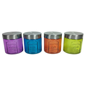 Picture of 26-oz Glass Canister, Assorted Colors (sold separately)