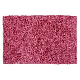 Picture of Pink Shiny Fur Shag Rug 3 X 5 ft