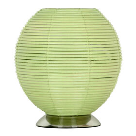Picture of Green Wicker Uplight 10-in