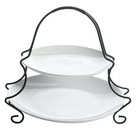 Picture of  2 TIER SERVE SET W METAL RACK
