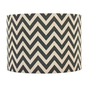 Picture of Black and Chevron Lampshade - 12 X 14 X 10