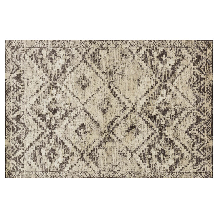 Brown and Ivory Calypso Rug- 5x7 ft