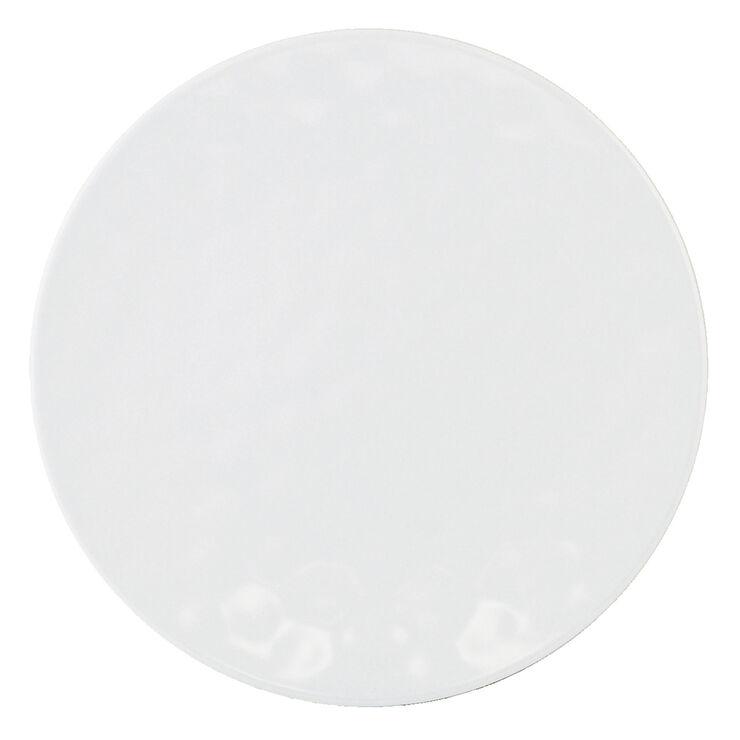 Indigo Melamine Dinner Plate - White