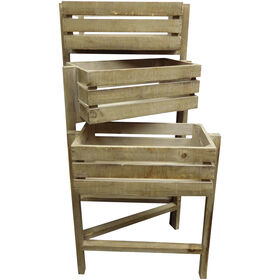 Picture of Wooden 3-Tier Planter- Gray 30-in