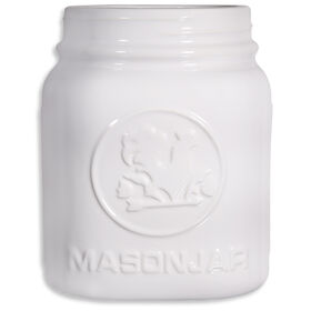 Picture of 8-in Mason Ceramic Jar, White