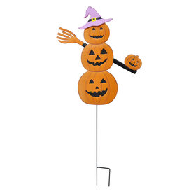 Picture of 36in Metal Moving Arms Jack-O-Lantern Stack