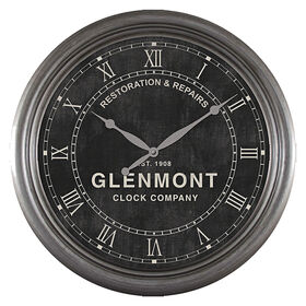 Picture of 24-in Restore Roman Numeral Clock with Black Face