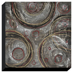 Picture of Hand Painted Metal Swirls Canvas Art- 40x40 in.