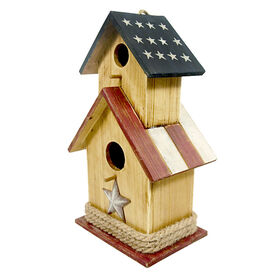15-in. Wood Patriotic Birdhouse