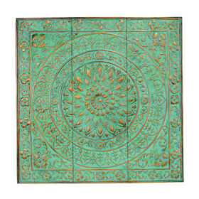 Picture of 36IN METAL BOHO GREEN WALL
