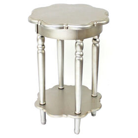 Picture of Silver Scallop 2 Tier Wooden Table