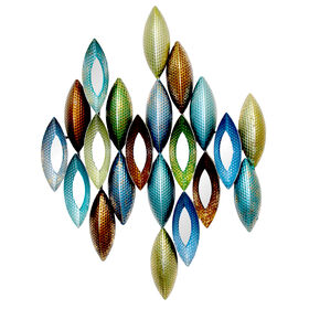 Picture of 22 X 29-in Blue and Green Teardrop Mirror