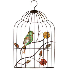 Picture of 13 X 23-in Green Bird in Cage
