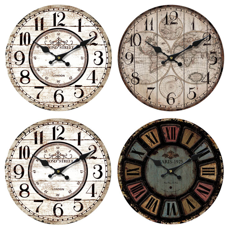 14-in Roman Numeral Fashion Clock