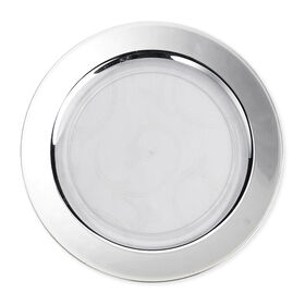 Picture of White Salad Plates with Silver Band, Set of 10