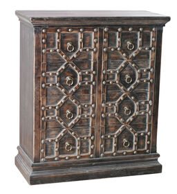 Picture of 8-Drawer Medieval Cabinet - Black, 33 x 39-in.