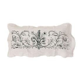 Picture of Fleur de Lis Natural Linen Pillow 12x24-in