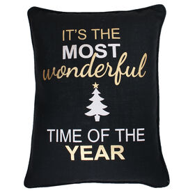 Picture of Most Wonderful Time of the Year Christmas Pillow 14x18