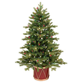 Picture of E7 48-in Norway Spruce Christmas Tree in Decorative Drum