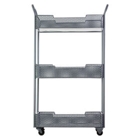 Picture of Metal Mesh Tray Cart with Caster Wheels