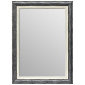 Picture of 24 X 36-in Gray and White Janice Mirror
