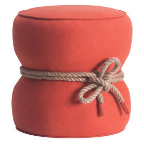 Picture of Orange Tubby Ottoman