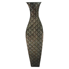 Picture of Brown Vase with Diamond Pattern- 25-in