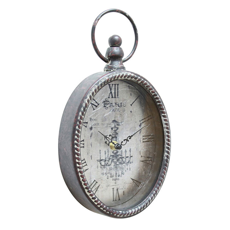7 X 12-in Antique Silver Deep Pocket Watch